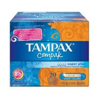 TAMPAX COMPAK TAMPON 100%ALGODON SUPER PLUS 24 U