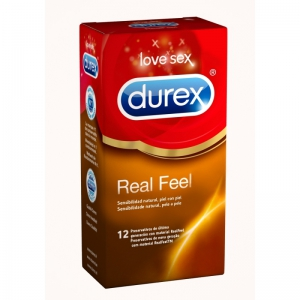 DUREX REAL FEEL PRESERVATIVOS SIN LATEX 12 U