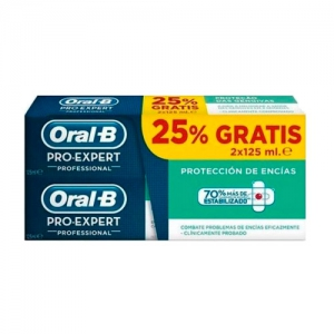 ORAL-B PRO EXPERT PROTECCION PROFESIONAL PASTA D PACK 125 ML 2 U