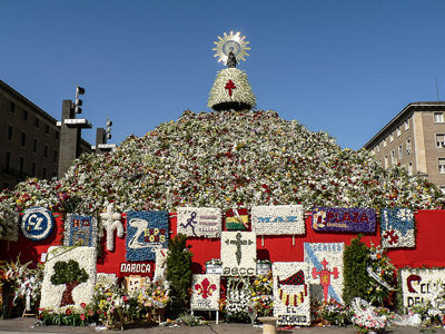 Virgen del Pilar durante las fiestas